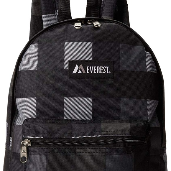 e2dfd8ce4fc4 Everest Basic Pattern Backpack, Charcoal, One Size Boutique